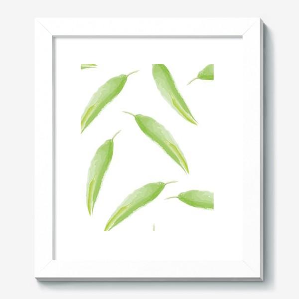 Картина «тропические листья,перья»