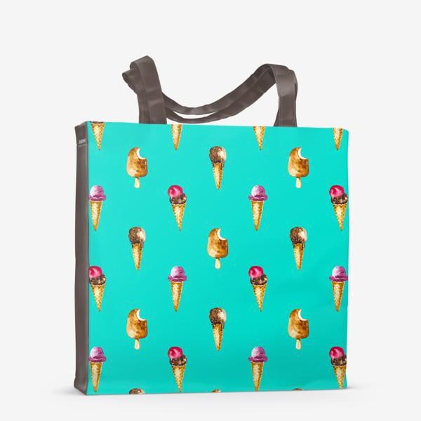 Сумка-шоппер «Веселый пломбир шоколадное веселье»