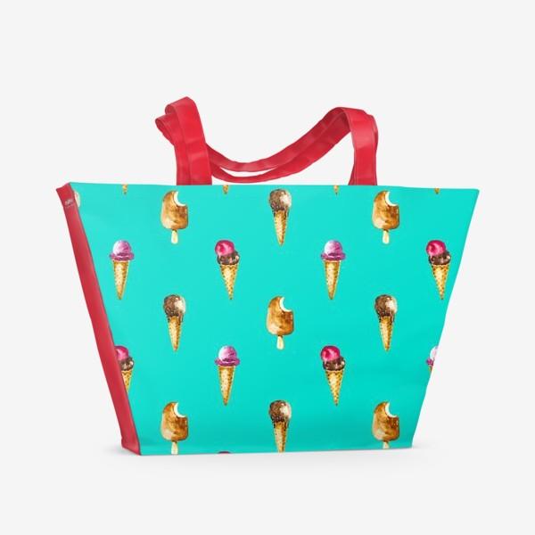 Пляжная сумка «Веселый пломбир шоколадное веселье»