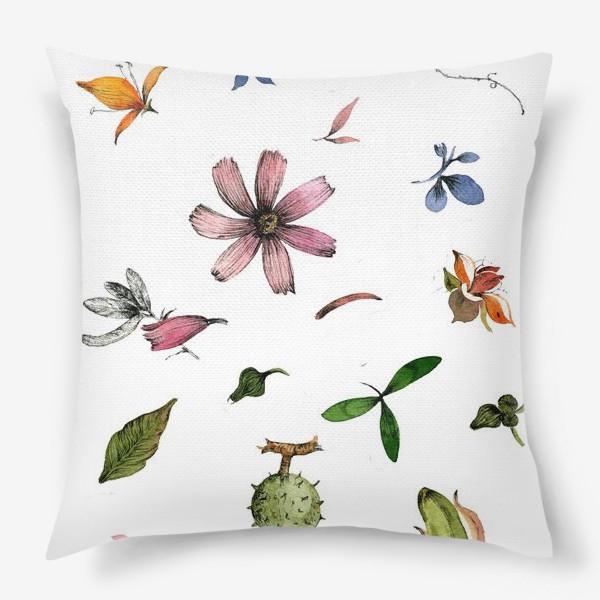 Подушка «Летний паттерн»