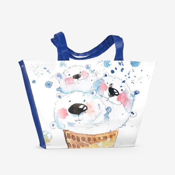 Пляжная сумка «Вкусные мишки»