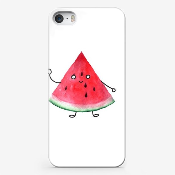 Чехол iPhone «Арбузик. Супер дружественный Арбуз»
