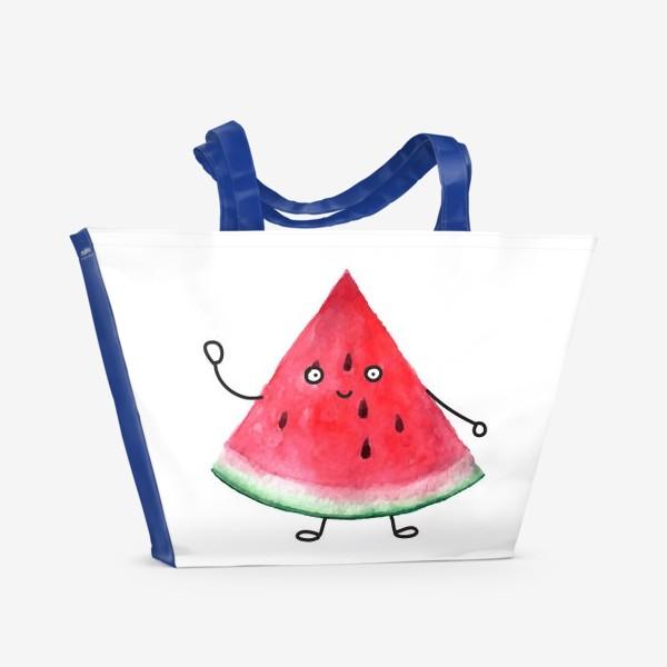 Пляжная сумка «Арбузик. Супер дружественный Арбуз»