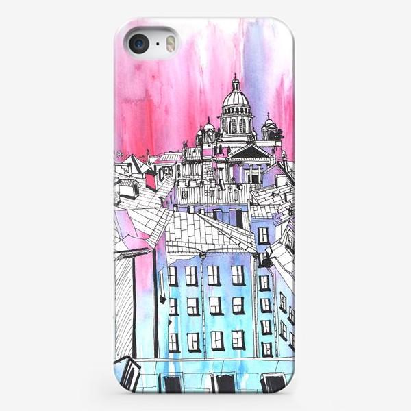 Чехол iPhone «В центре Петербурга. Крыши Питера»