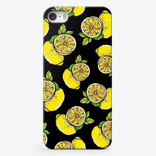 Чехол iPhone «Яркие сочные акварельные лимоны »