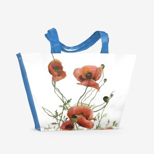 Пляжная сумка «Маки»