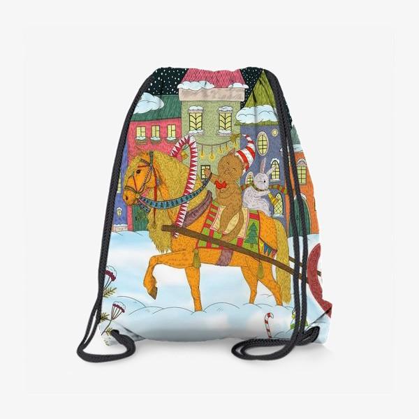 Рюкзак «Коты и Новый год»