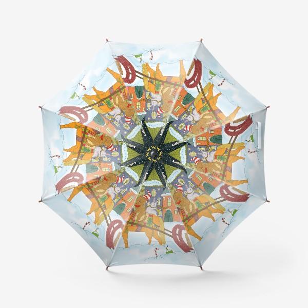 Зонт «Коты и Новый год»