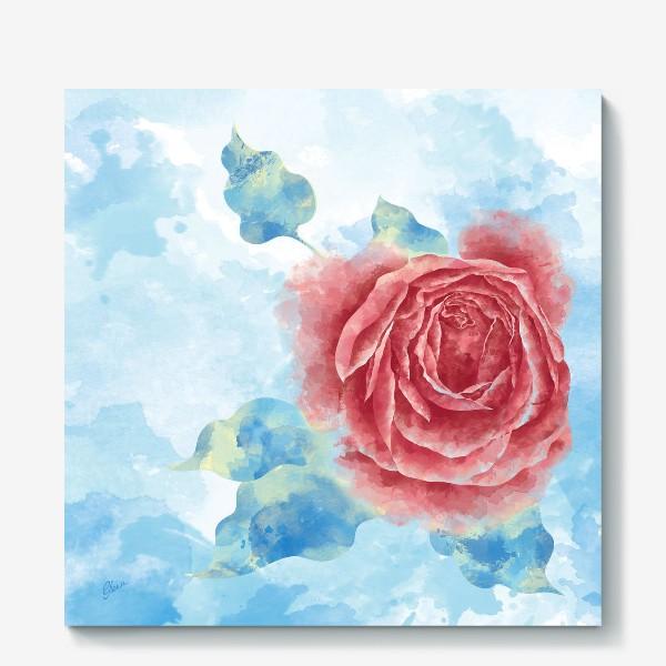 Холст «Морозная Роза»
