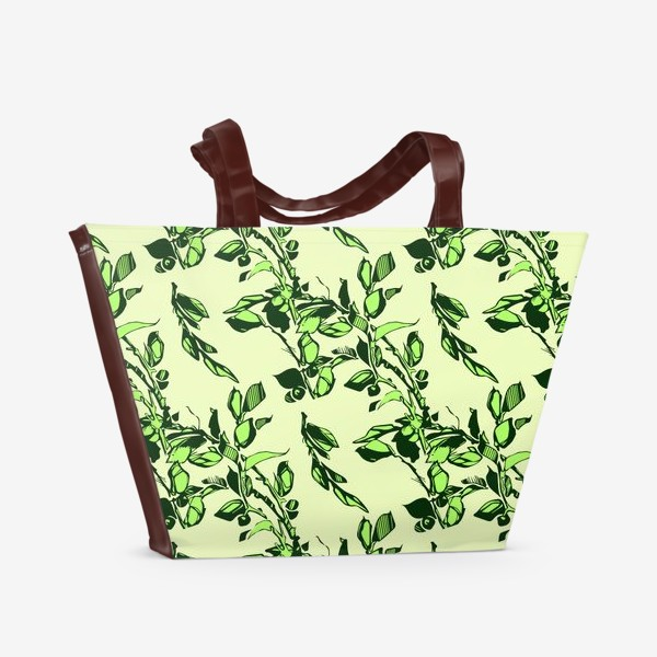 Пляжная сумка «Яблоня в цвету»