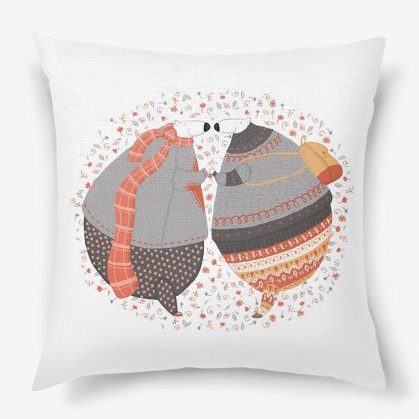 Подушка «Мишки в любви»