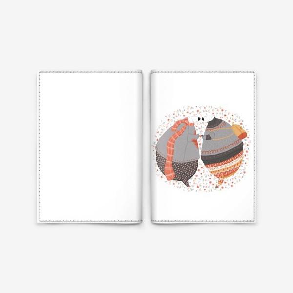 Обложка для паспорта «Мишки в любви»