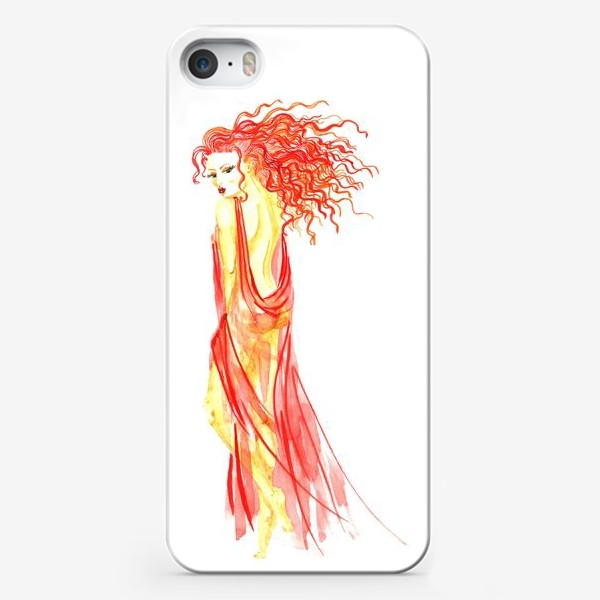 Чехол iPhone «Рыжая девушка»