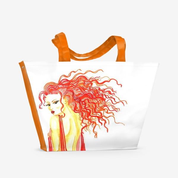 Пляжная сумка «Рыжая девушка»