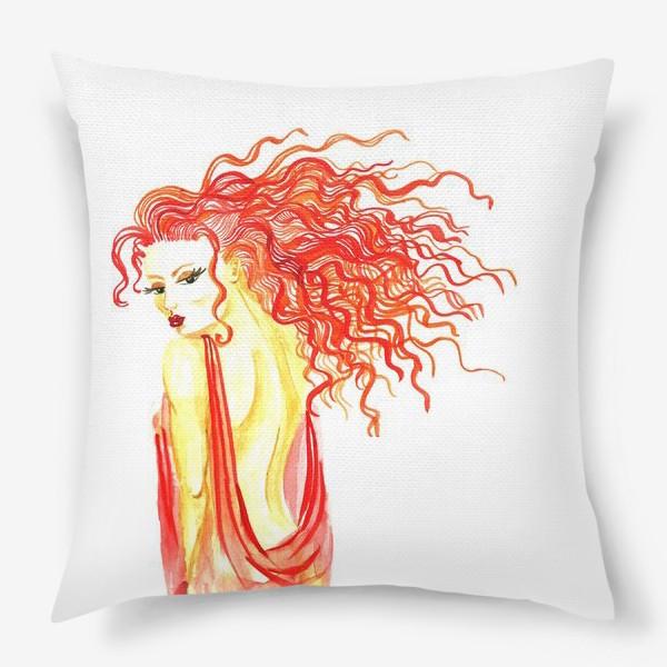Подушка «Рыжая девушка»