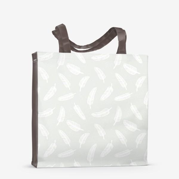 Сумка-шоппер «Перья и точки»