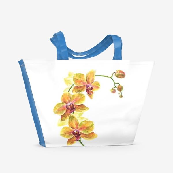 Пляжная сумка «Орхидея»