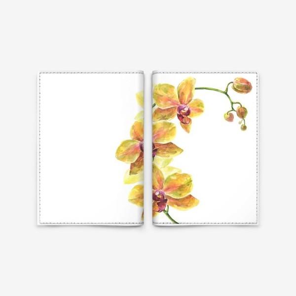 Обложка для паспорта «Орхидея»