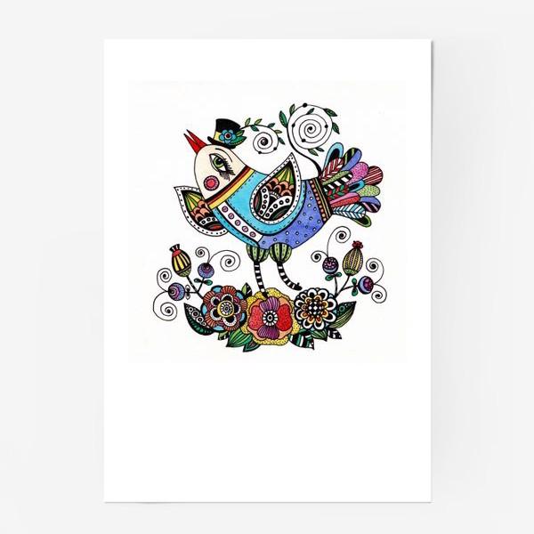 Постер «Птица в голубом»