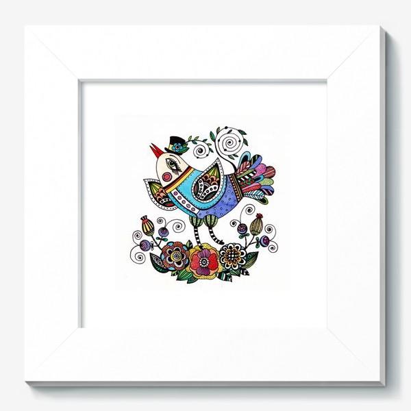 Картина «Птица в голубом»