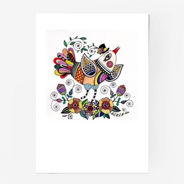 Постер «Птица в любви»