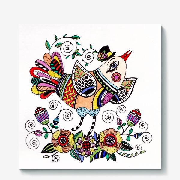 Холст «Птица в любви»