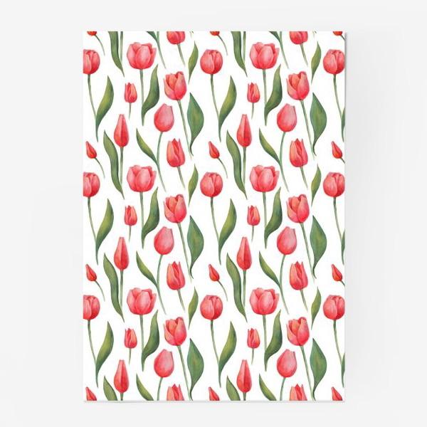 Постер «Красные акварельные тюльпаны»