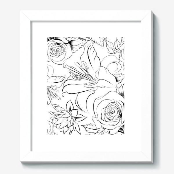 Картина «Бесшовный паттерн с цветами»