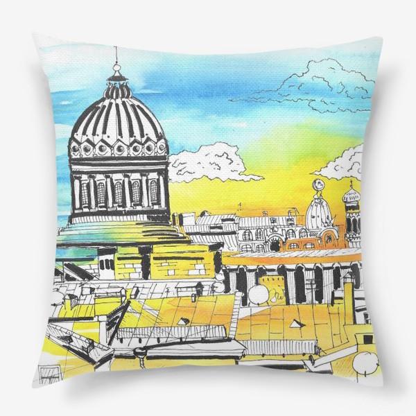 Подушка «Лето в Питере. Солнечный Петербург»