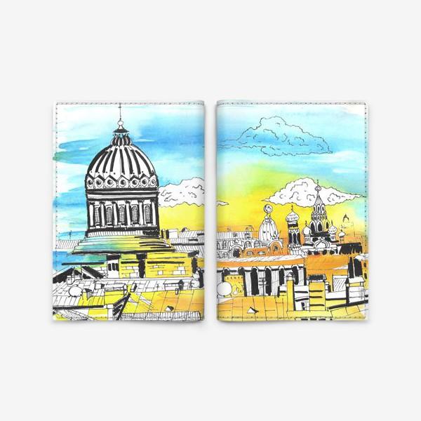 Обложка для паспорта «Лето в Питере. Солнечный Петербург»