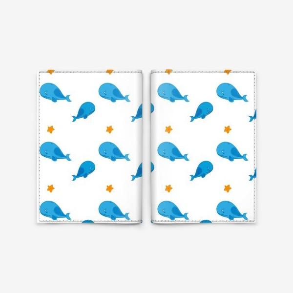 Обложка для паспорта «Семья китов»