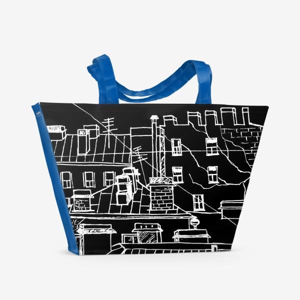 Пляжная сумка «Петербург в темноте. ЧБ Питер.»