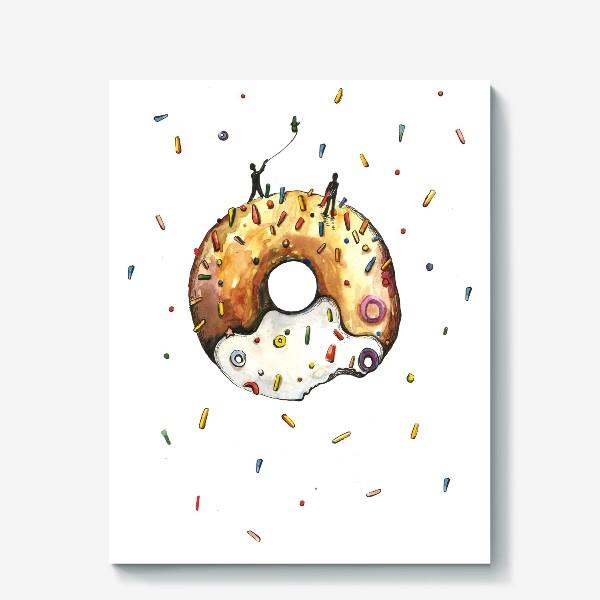 Холст «Пончик и гравитация»