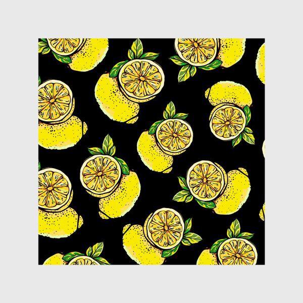 Шторы «Яркие сочные акварельные лимоны »