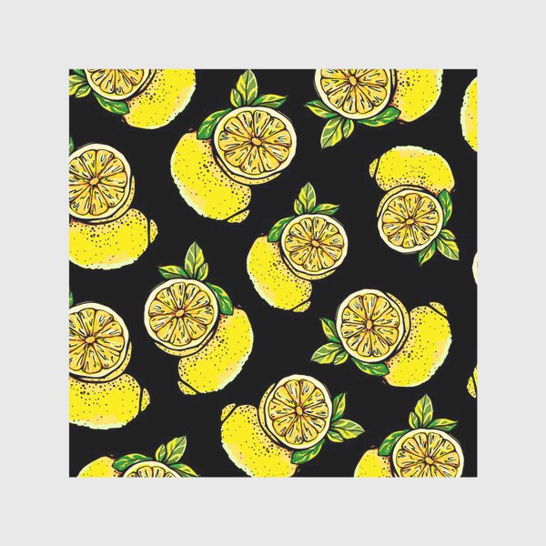 Скатерть «Яркие сочные акварельные лимоны »