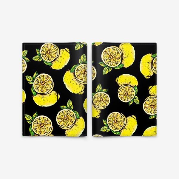 Обложка для паспорта «Яркие сочные акварельные лимоны »