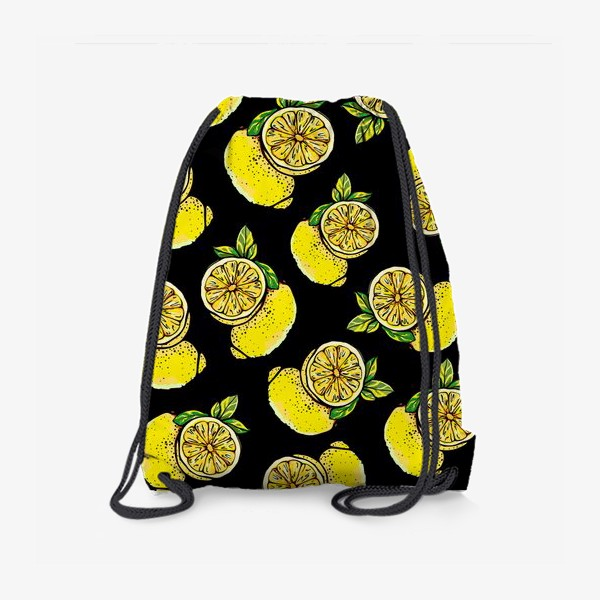 Рюкзак «Яркие сочные акварельные лимоны »
