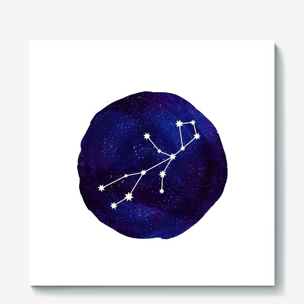 Холст «Космос. Дева»
