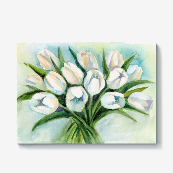 Холст «Белые тюльпаны»