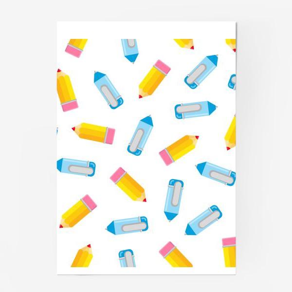 Постер «Карандаши и ручки»
