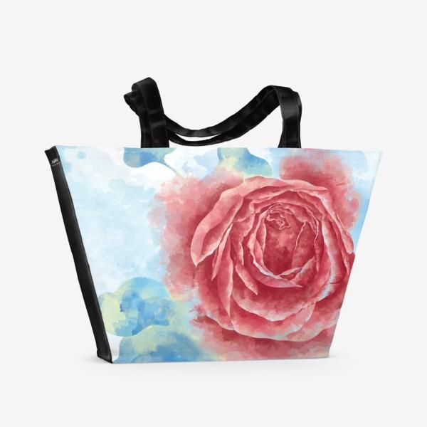 Пляжная сумка «Морозная Роза»