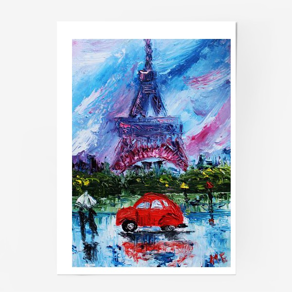 Постер «Влюбленный Париж»