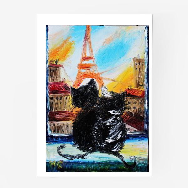 Постер «Кошки в Париже»