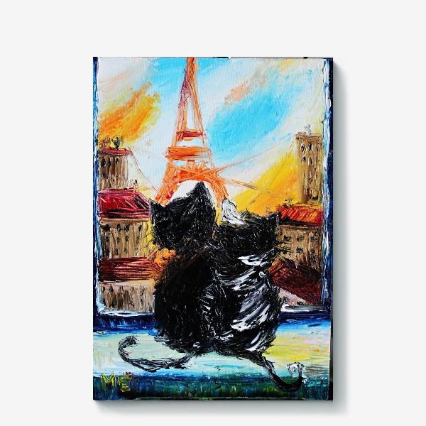 Холст «Кошки в Париже»