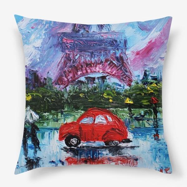 Подушка «Влюбленный Париж»