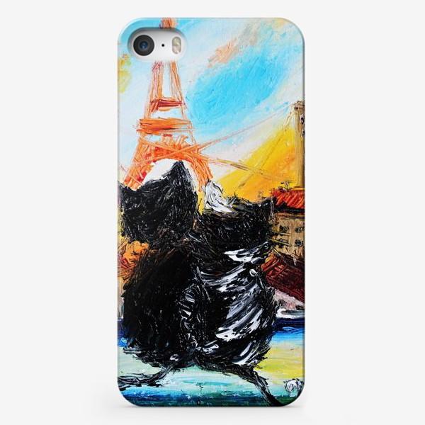 Чехол iPhone «Кошки в Париже»