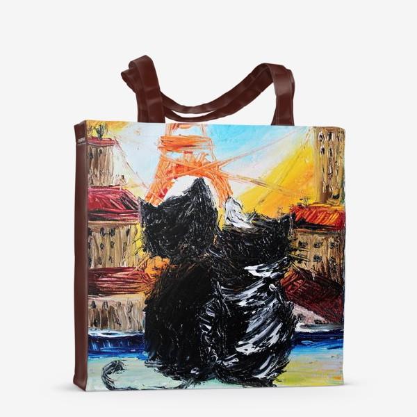 Сумка-шоппер «Кошки в Париже»