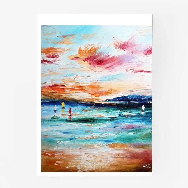 Постер «Лазурное море»