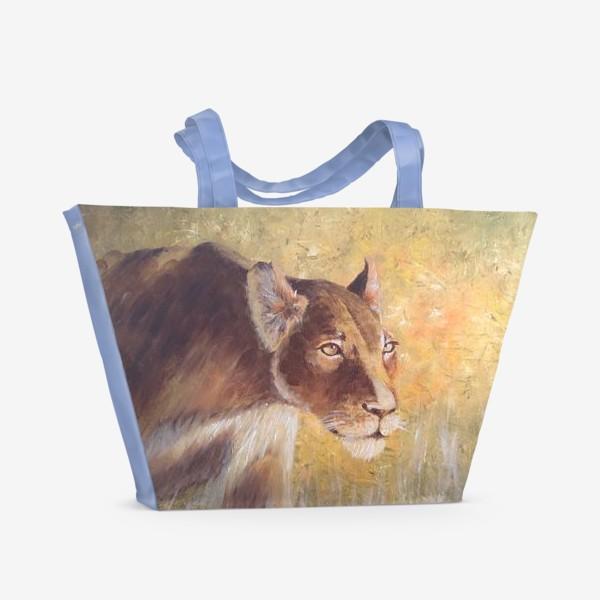 Пляжная сумка «Львица»