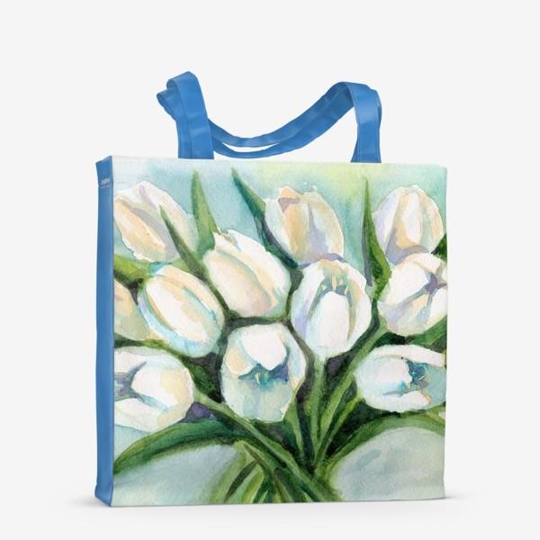 Сумка-шоппер «Белые тюльпаны»